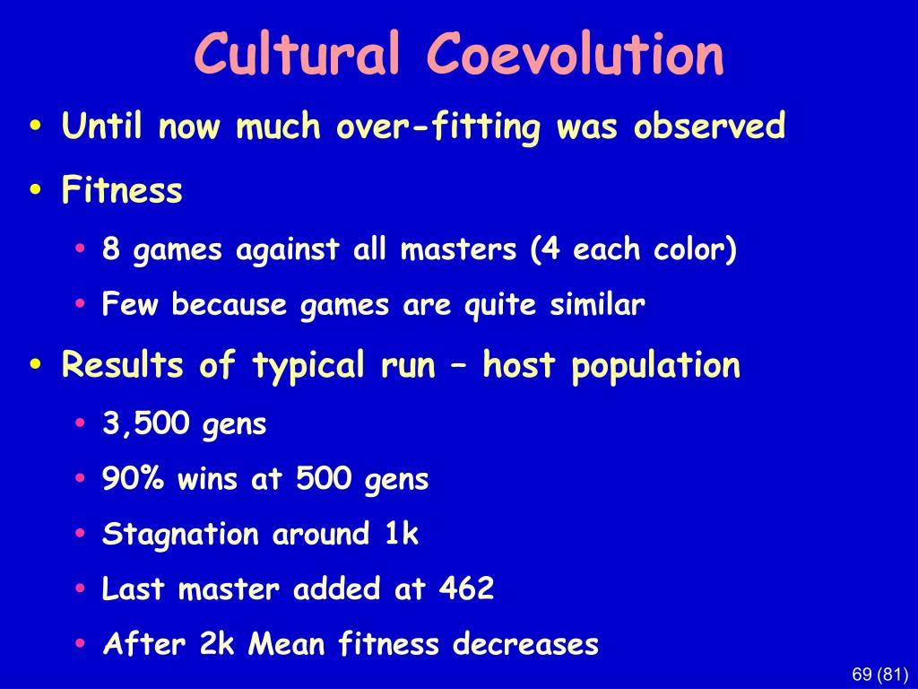 Cultural Coevolution