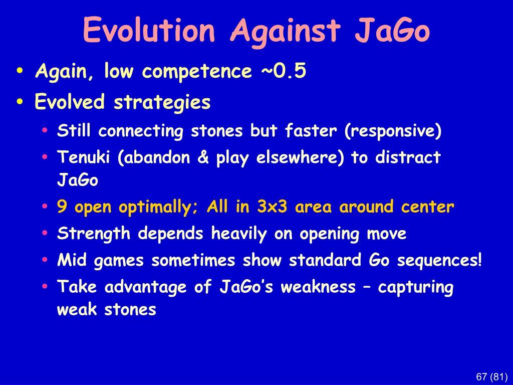 Evolution Against JaGo