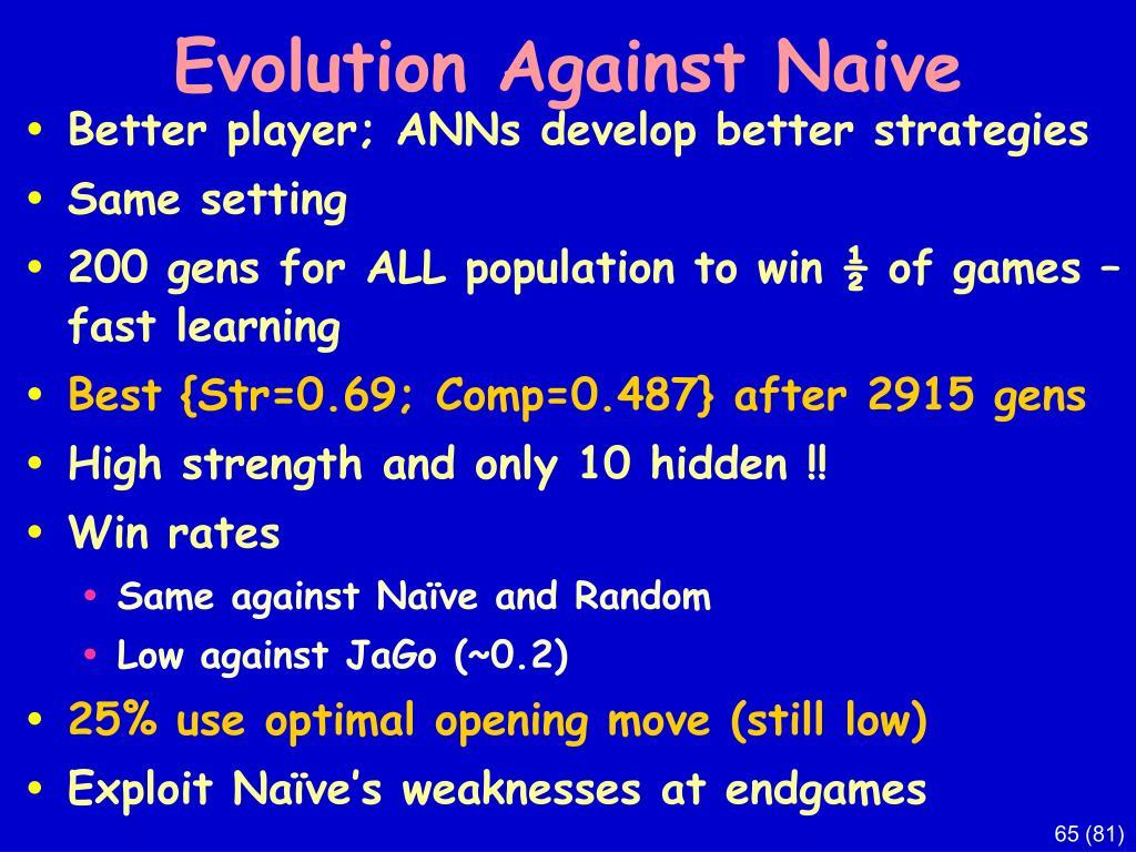 Evolution Against Naive