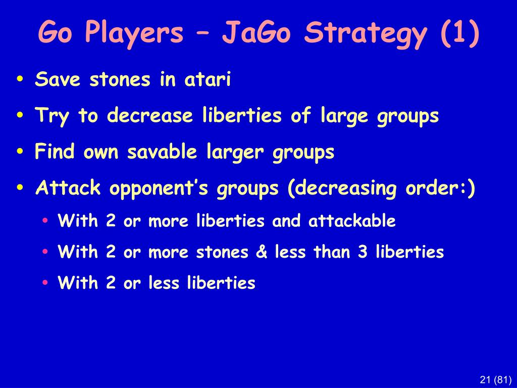 Go Players – JaGo Strategy (1)