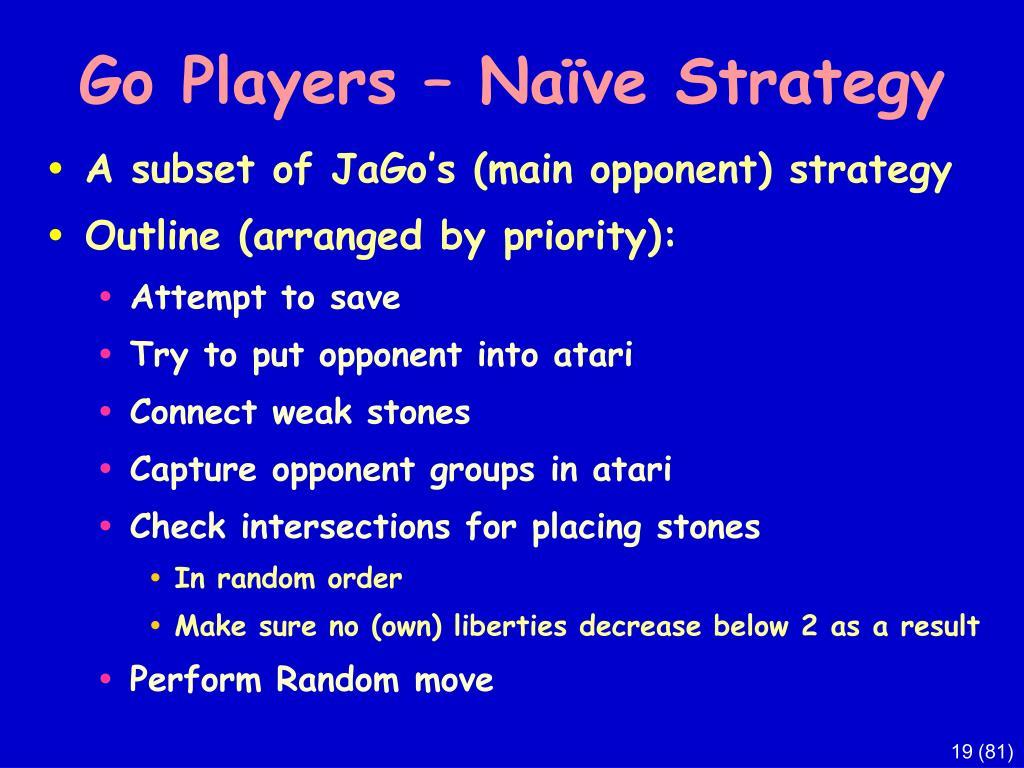 Go Players – Naïve Strategy