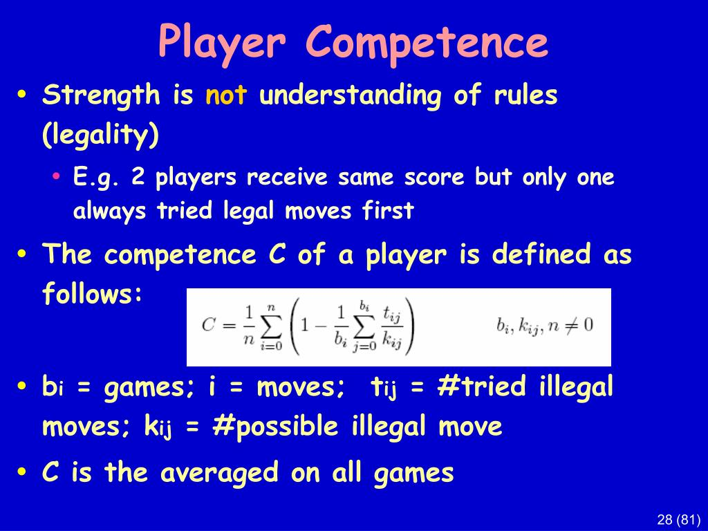 Player Competence