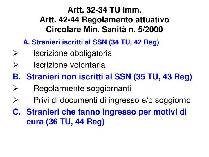 Artt. 32-34 TU Imm.