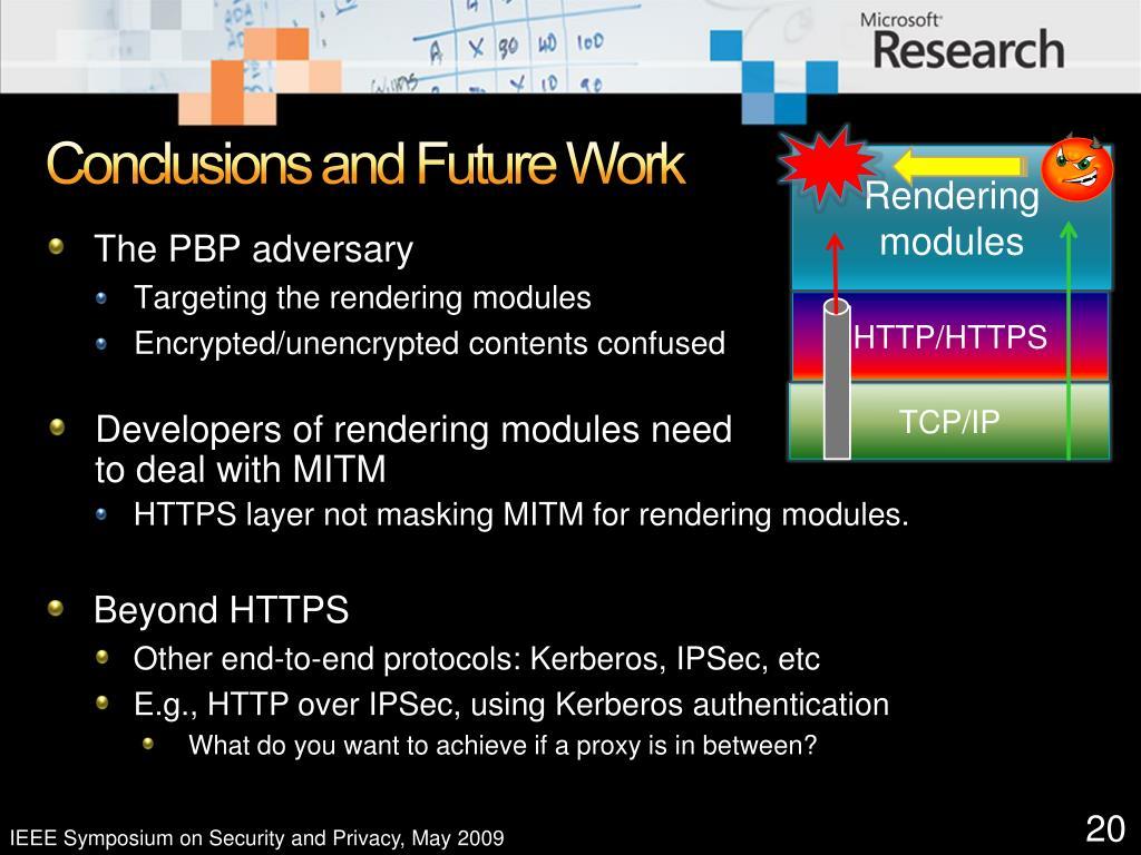 Rendering modules