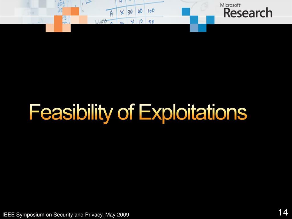 Feasibility of Exploitations