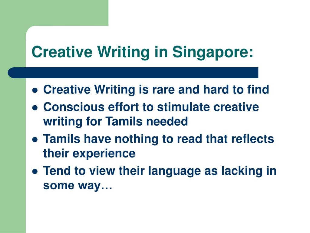 Creative Writing in Singapore: