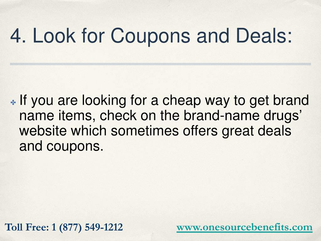 4. Look for Coupons and Deals: