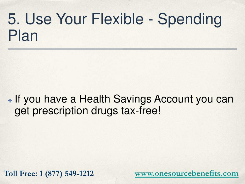 5. Use Your Flexible - Spending Plan