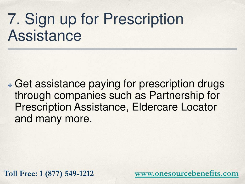 7. Sign up for Prescription