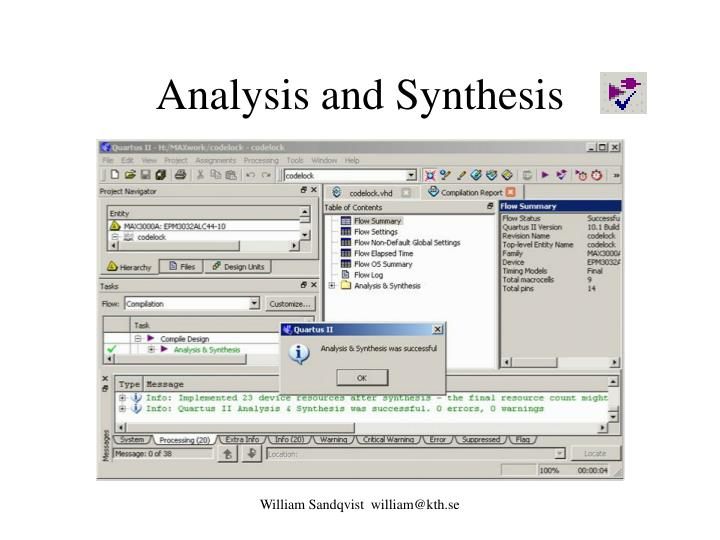 Difference Between Analysis and Synthesis