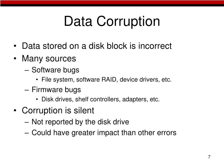 Data Corruption