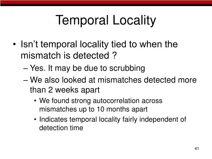 Temporal Locality