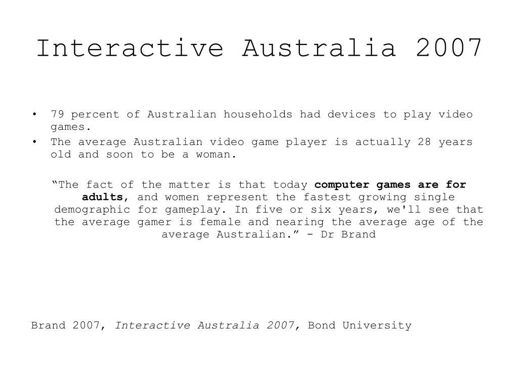 Interactive Australia 2007