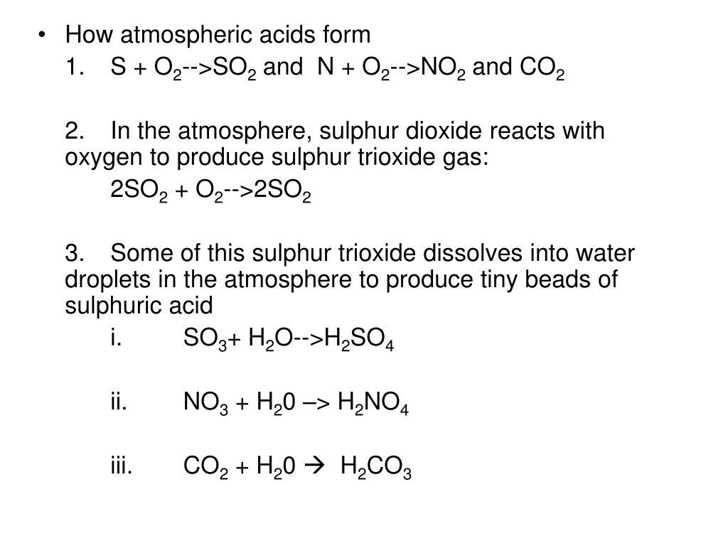 How atmospheric acids form