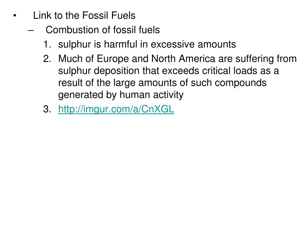 Link to the Fossil Fuels