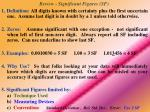 review significant figures sf