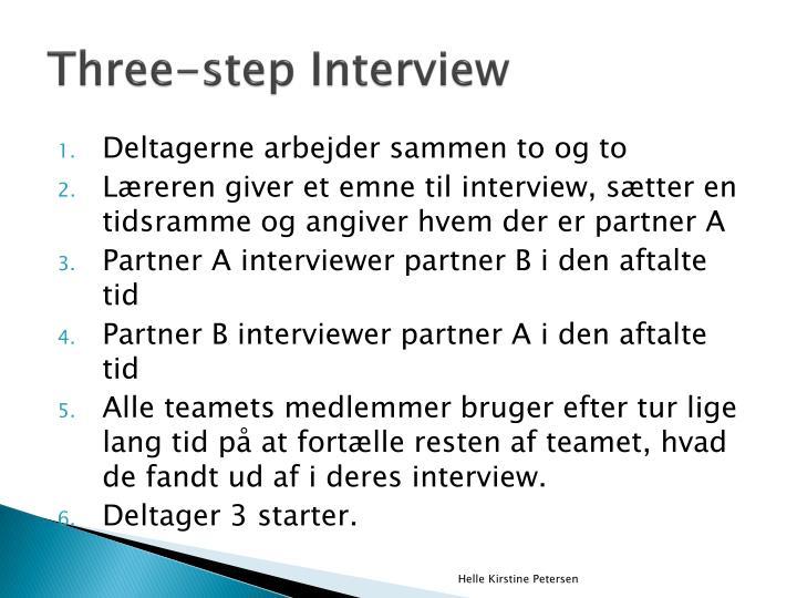 Three-step