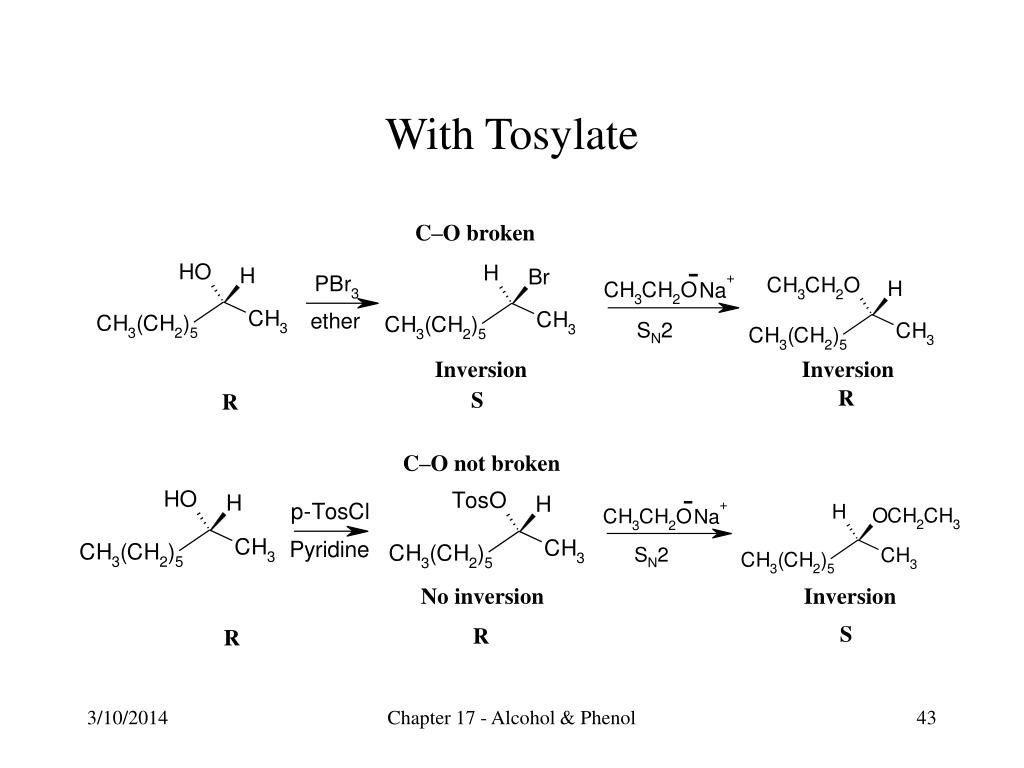 With Tosylate