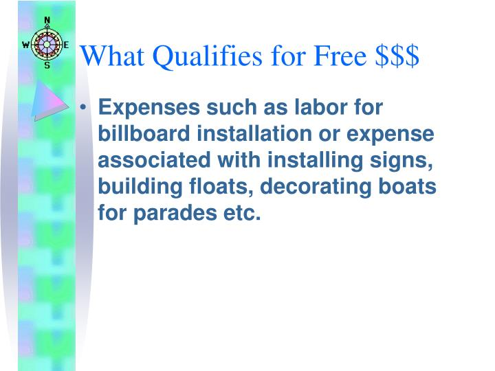 What Qualifies for Free $$$
