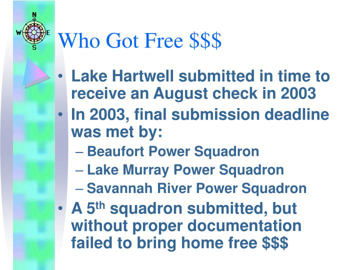 Who Got Free $$$