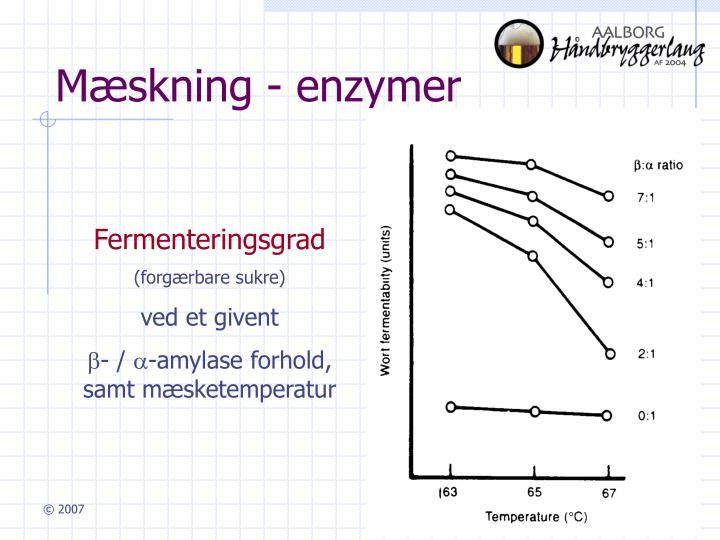 Mæskning - enzymer