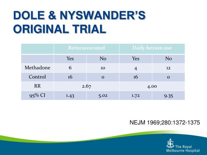 DOLE & NYSWANDER'S ORIGINAL TRIAL