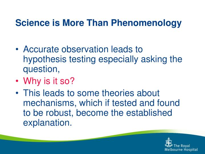 Science is more than phenomenology