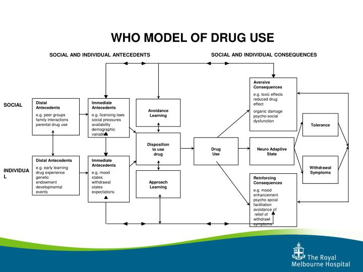 WHO MODEL OF DRUG USE