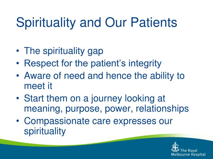 Spirituality and Our Patients