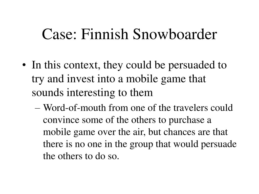Case: Finnish Snowboarder