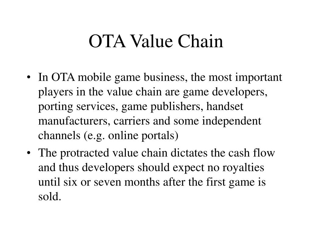 OTA Value Chain