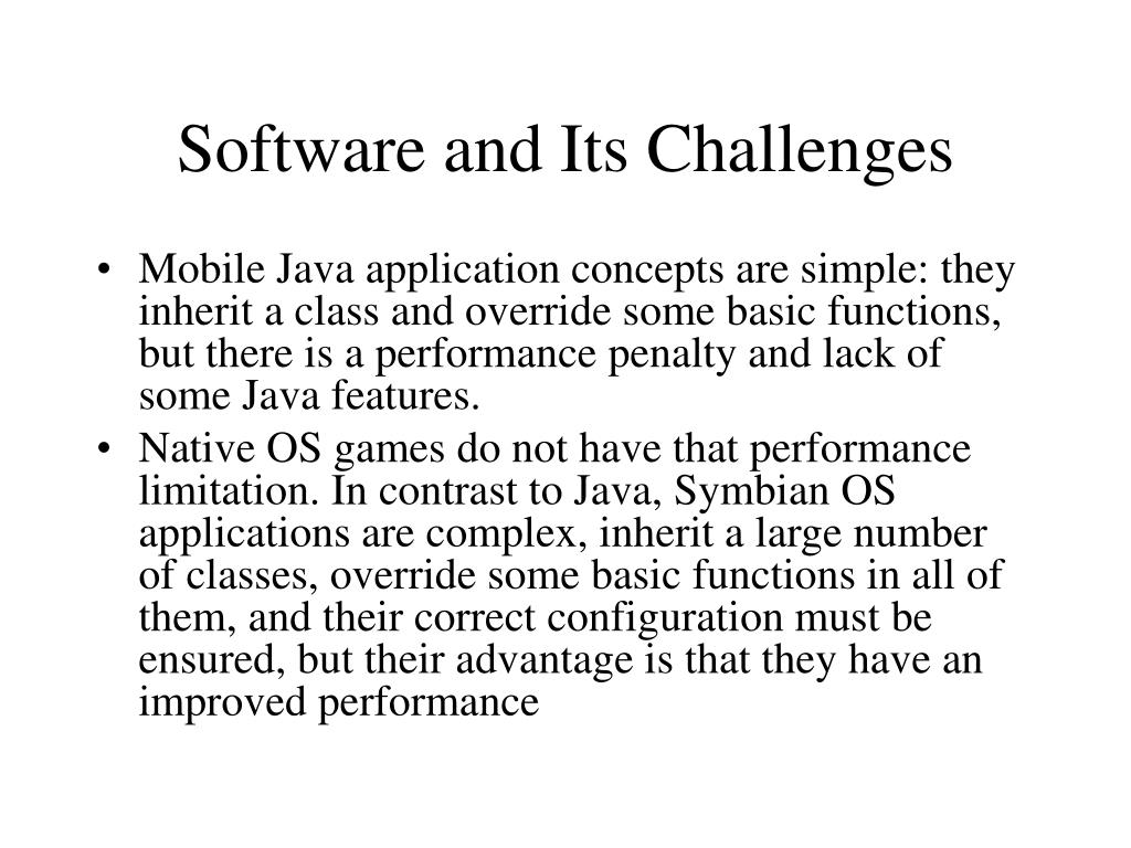 Software and Its Challenges