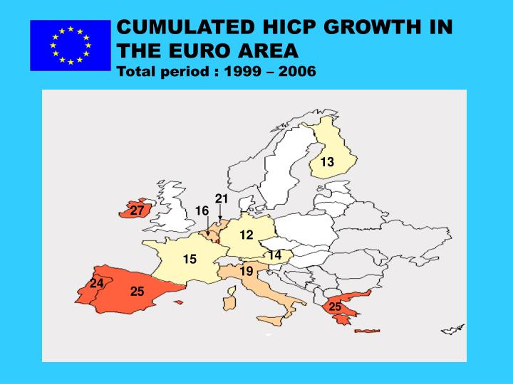 CUMULATED HICP GROWTH IN THE EURO AREA