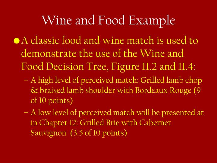 Wine and Food Example
