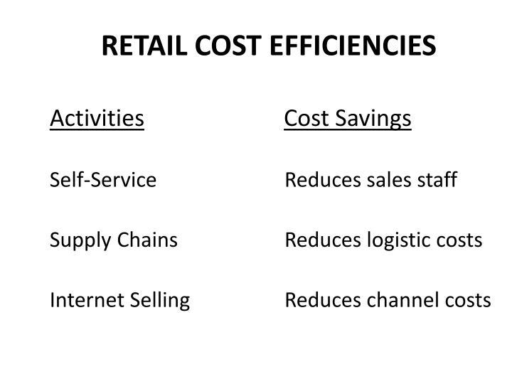RETAIL COST EFFICIENCIES