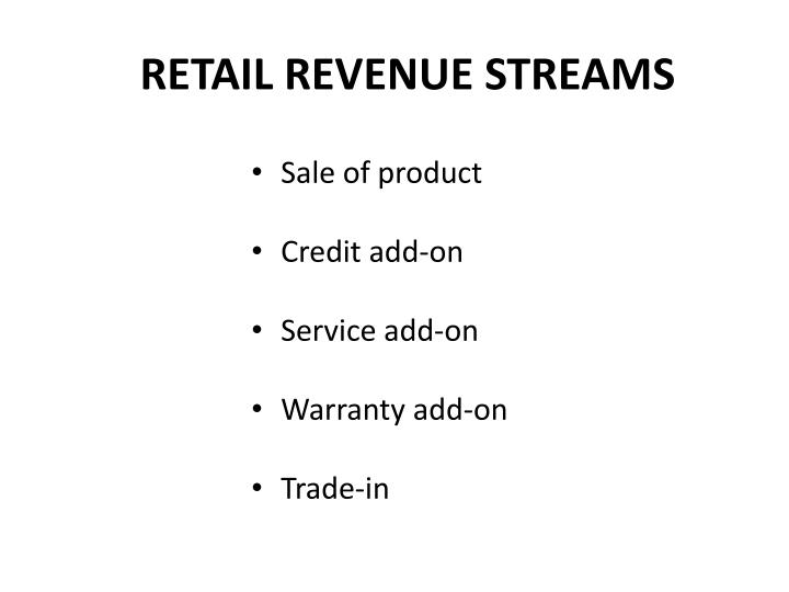 RETAIL REVENUE STREAMS