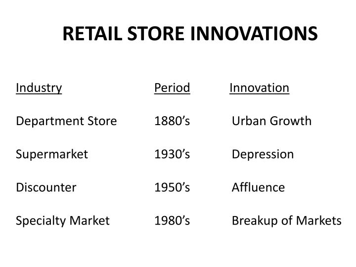 RETAIL STORE INNOVATIONS