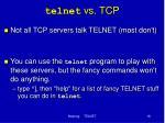 telnet vs tcp