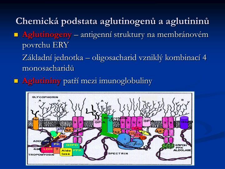 Chemická podstata aglutinogenů a aglutininů