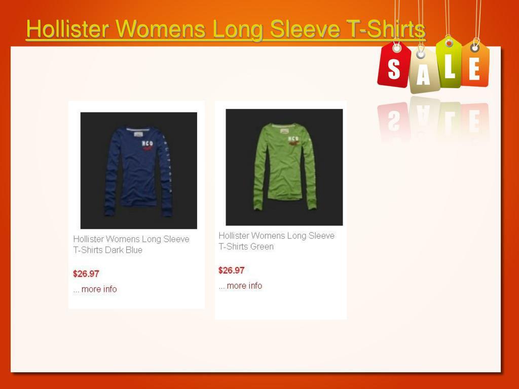 Hollister Womens Long Sleeve T-Shirts