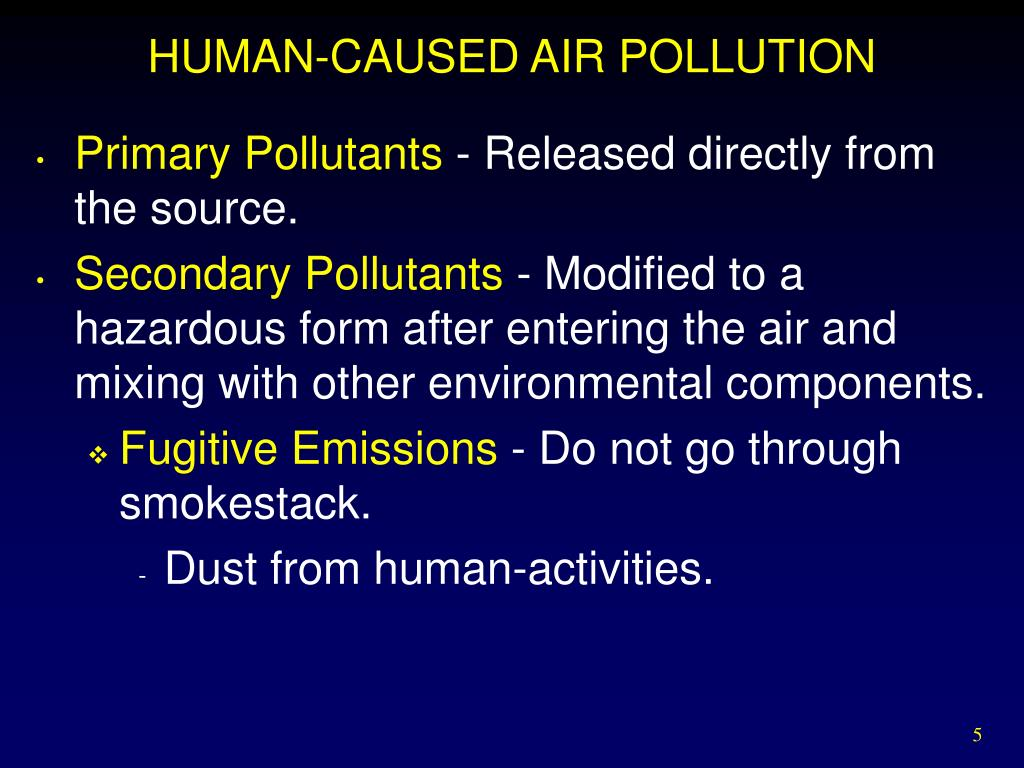 HUMAN-CAUSED AIR POLLUTION