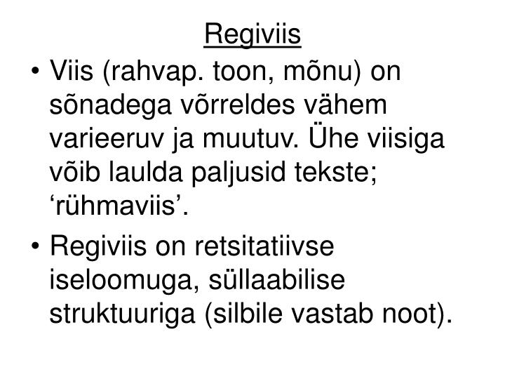 Regiviis