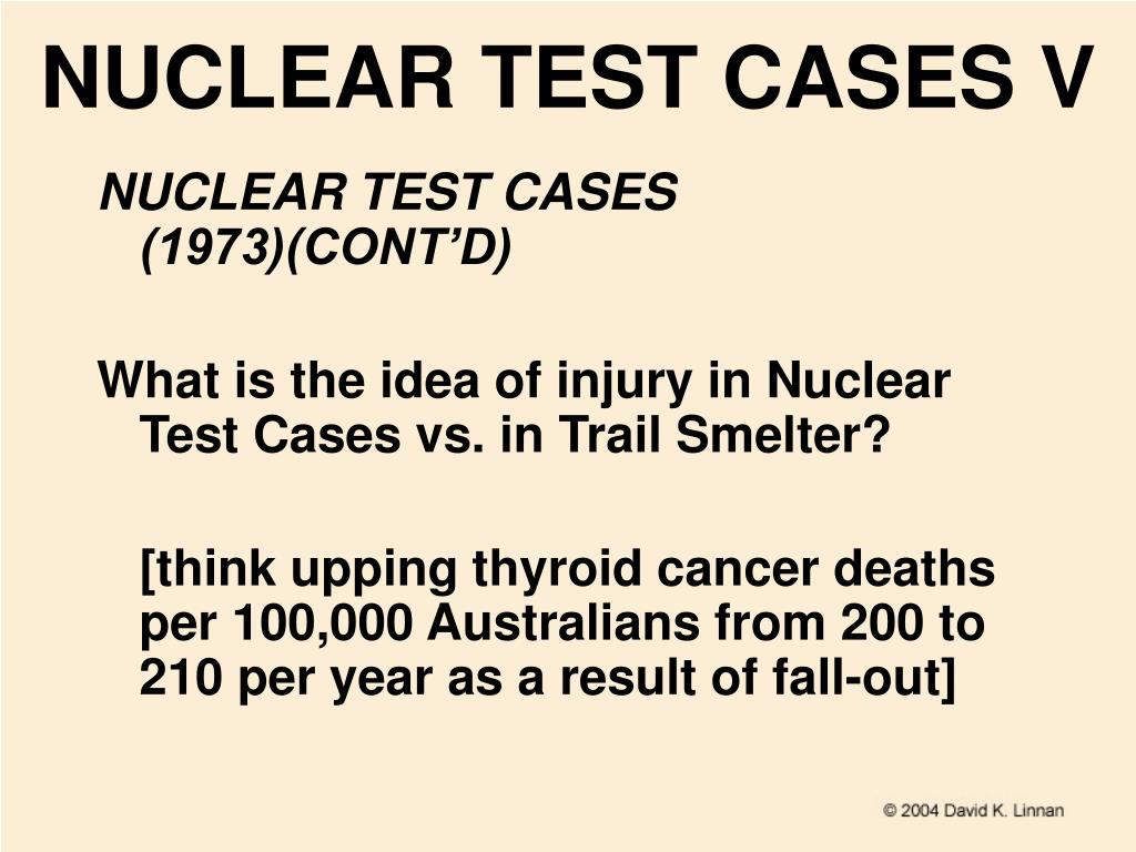 NUCLEAR TEST CASES V