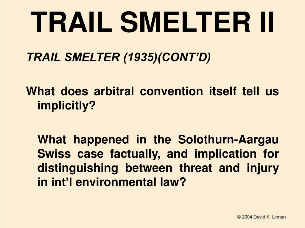 TRAIL SMELTER II