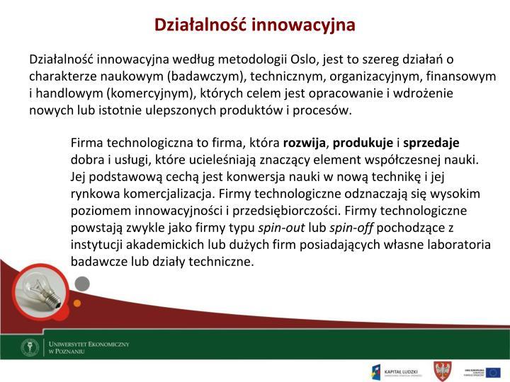 Działalność innowacyjna