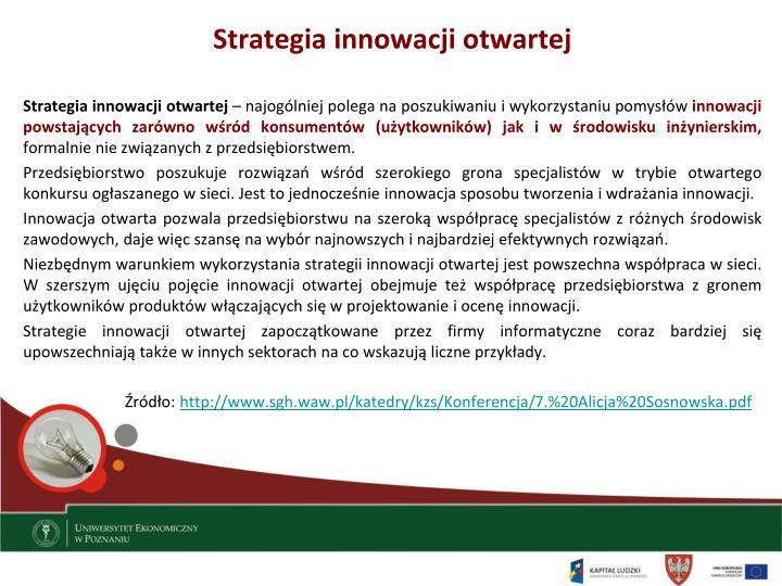 Strategia innowacji otwartej