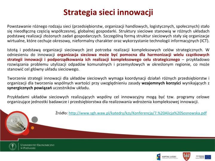 Strategia sieci innowacji