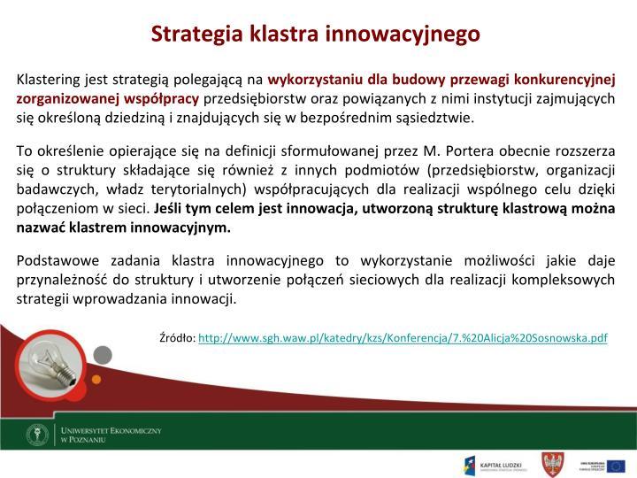Strategia klastra innowacyjnego
