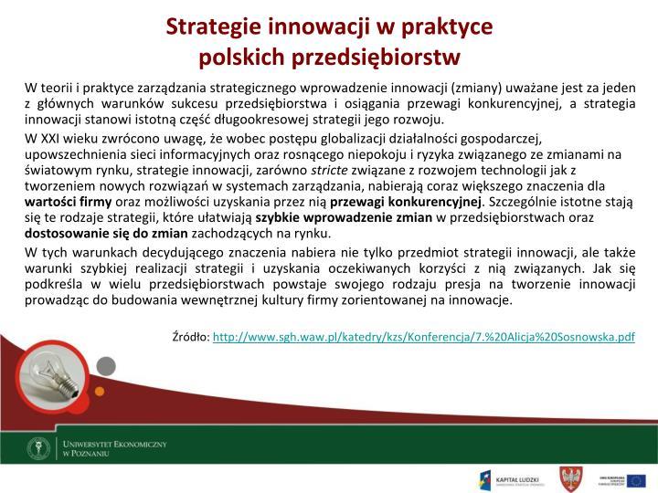 Strategie innowacji w praktyce