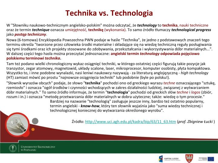 Technika vs. Technologia